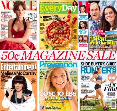 50 cent magazine sale