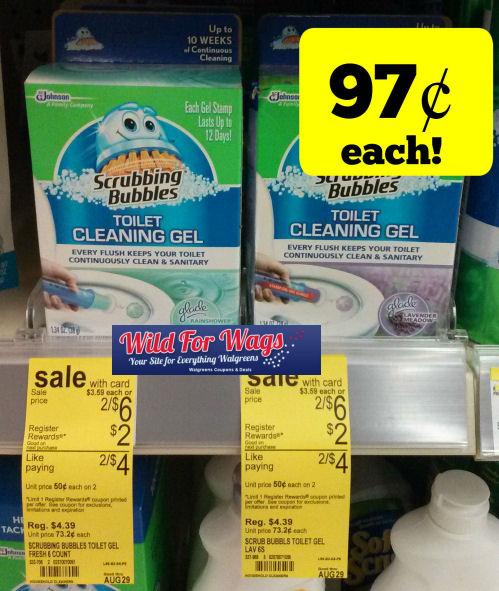 Scrubbing Bubbles Toilet Cleaning Gel 97¢ Each