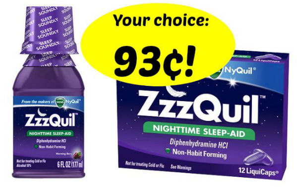 ZzzQuil As Low As 93¢!