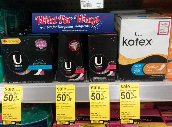 U by Kotex As Low As $1.34!
