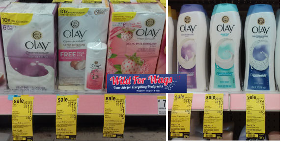 Stacked Deal for Olay Body Wash & Bars = $2.20 Each