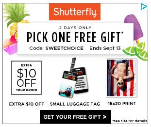 SHUTTERFLY FREE LUGGAGE TAG 2019