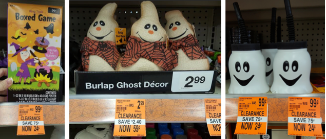 clearance halloween at walgreens