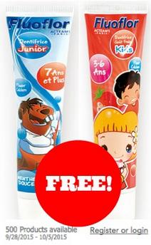 Free Kids Toothpaste