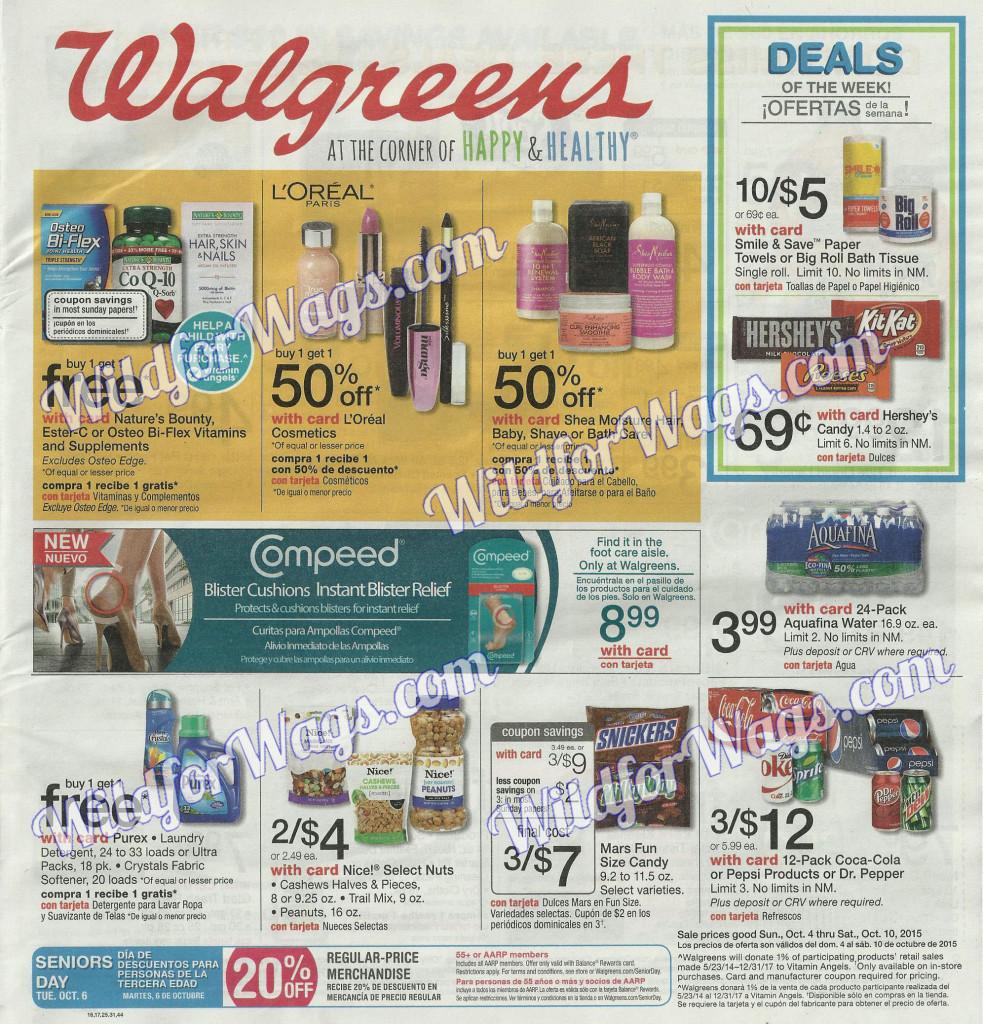 Walgreens Weekly Ad 10-4-15 1t