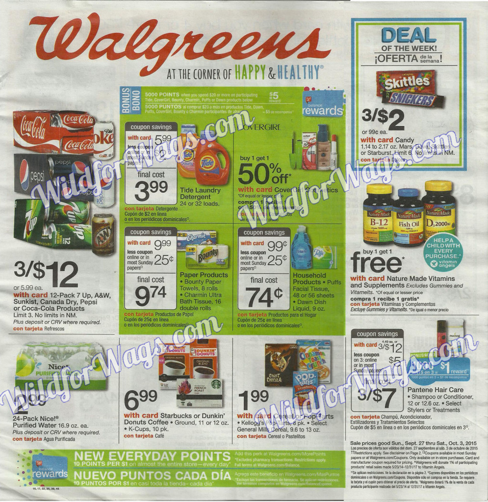 Walgreens Weekly Ad 9-27-15 1q