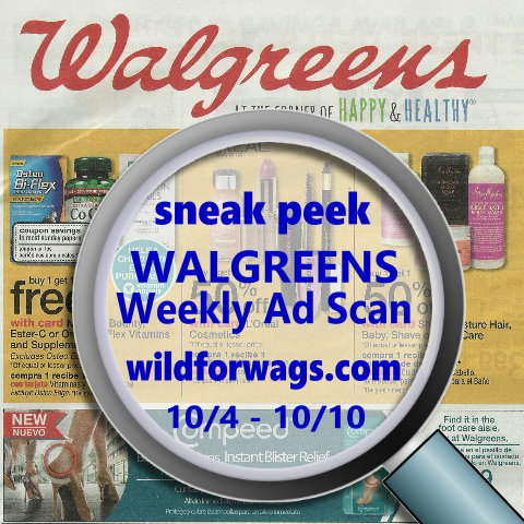Walgreens Weekly Ad Sneak Peek 10-4