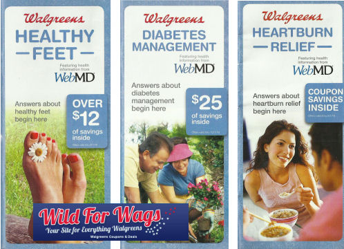 walgreens healthy feet diabetes mgmt heartburn relief coupon booklets