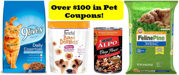 Over $100 in Pet Coupons