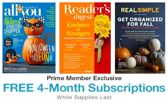 Amazon free Magazines