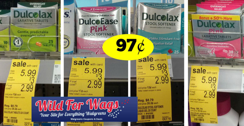 Dulcolax Products Just 97 162