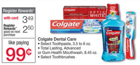 Colgate Register Reward deals