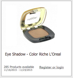 Free L'Oreal Color Riche Eyeshadow