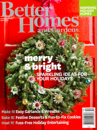 Better Homes and Gardens December Cover
