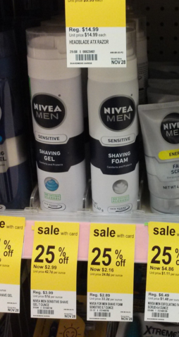Nivea Shave Foam coupons