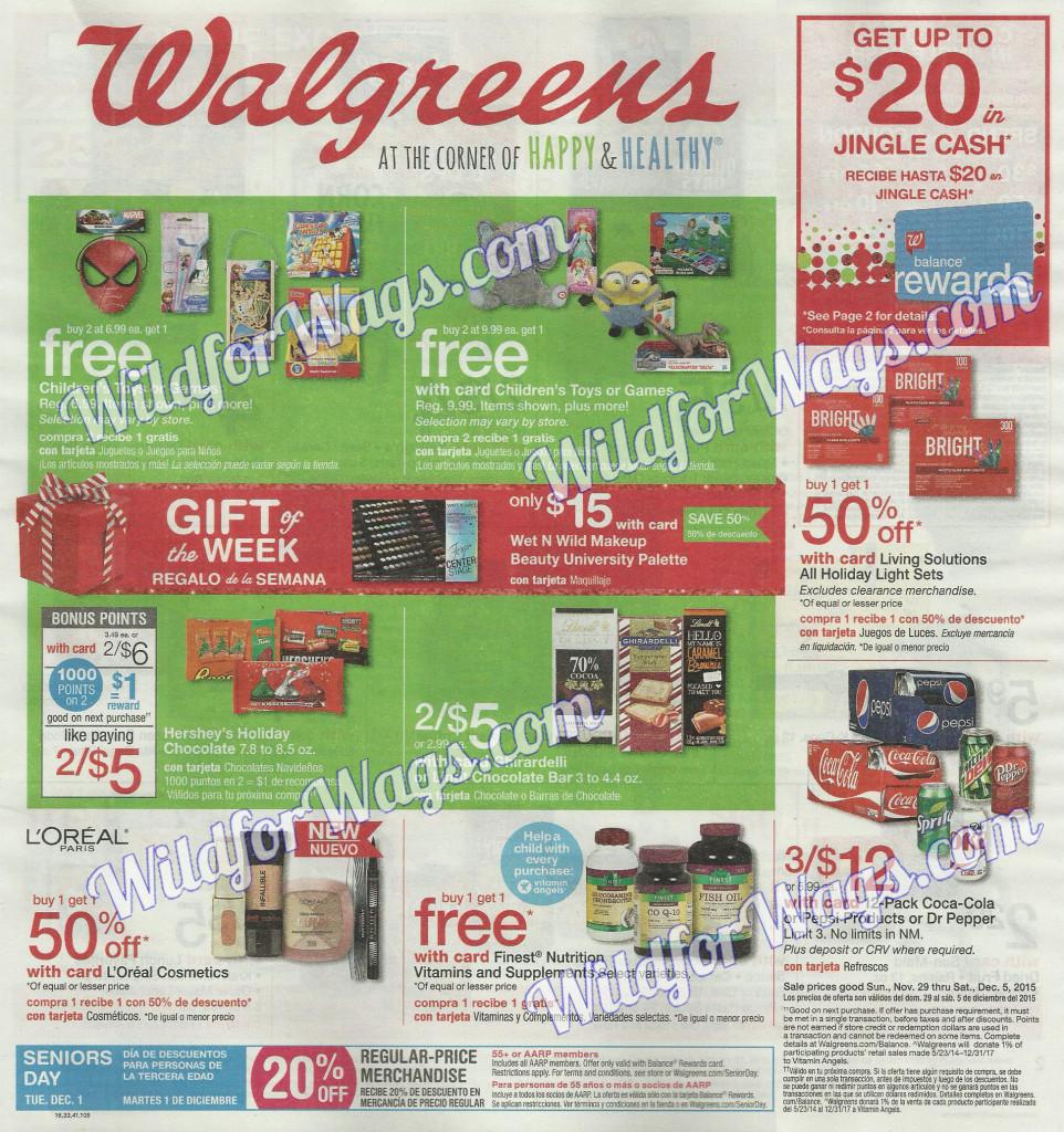 Walgreens Ad Scan 11-29-15 pg 1o
