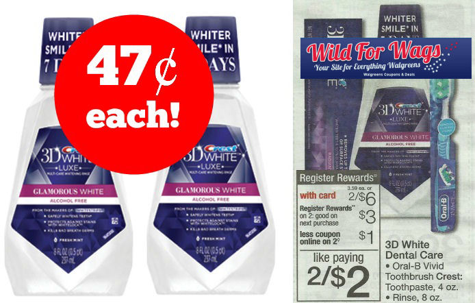 Crest 3D White Rinse 47¢ Each Next Week!