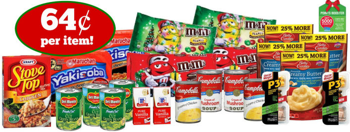 Grocery Points Booster Scenario: M&M's, Campbell's, Del Monte & More - 64¢ Per Item!