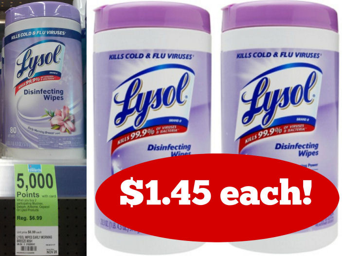 Print Now for $1.45 Huge Lysol Wipes Canister!