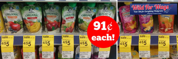 New Gerber Coupons for 91¢ Grabbers Pouches!