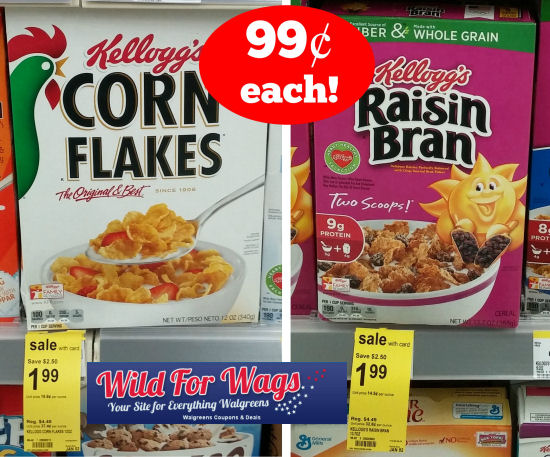 Kellogg's Raisin Bran & Corn flakes deal