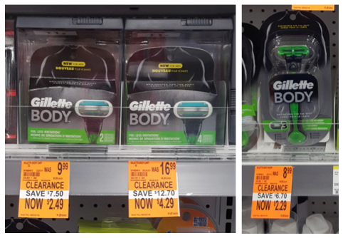 Gillette Clearance