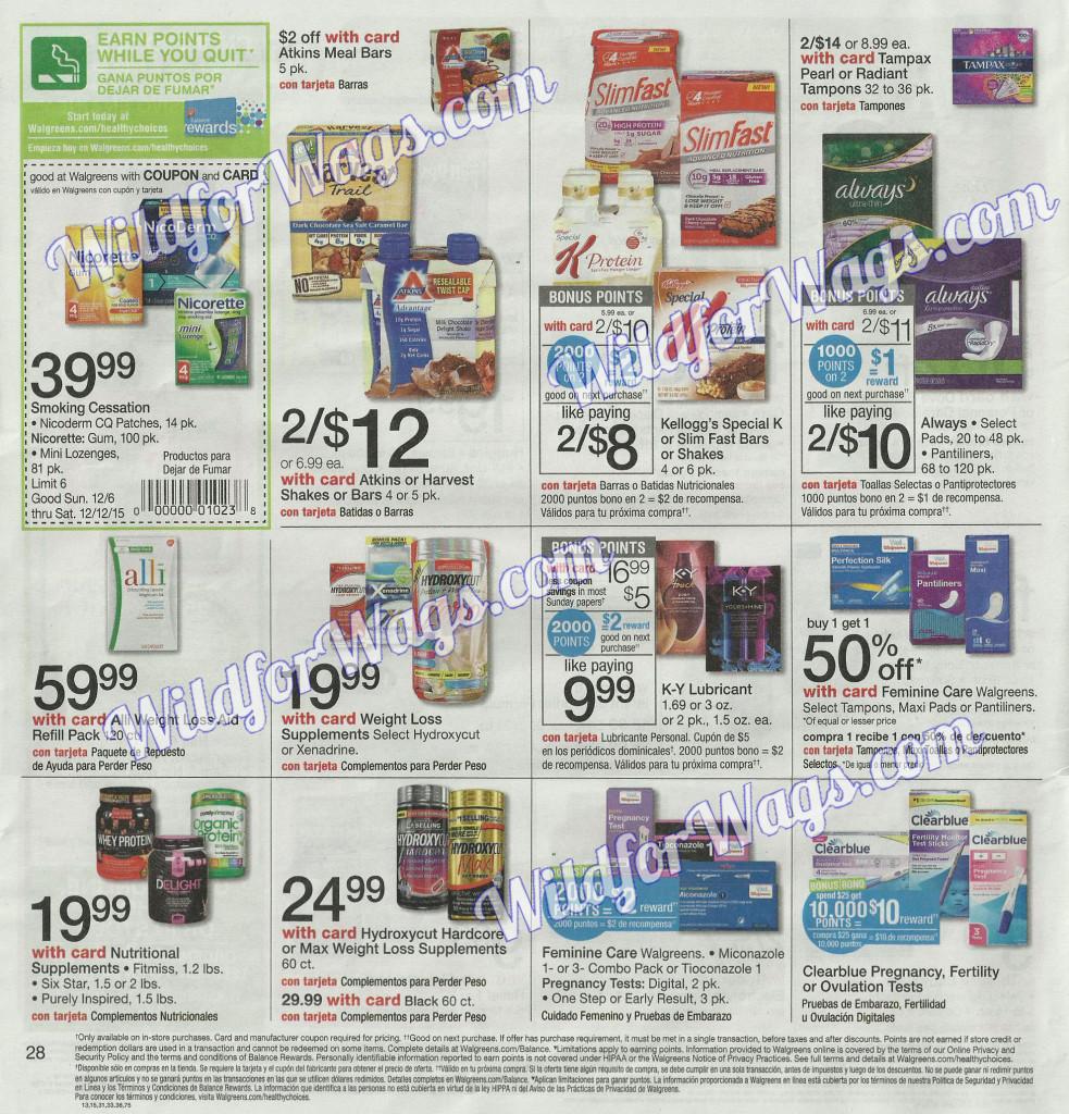 Walgreens Ad Scan 12-6-15 pg28l