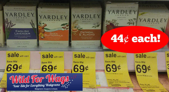 Yardley Bar Soaps 44¢ Each!