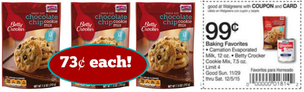 Betty Crocker Cookie Mix Just 73¢ With New Coupon!