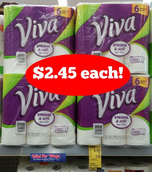 Viva Paper Towels Just $2.45 Per 6pk!
