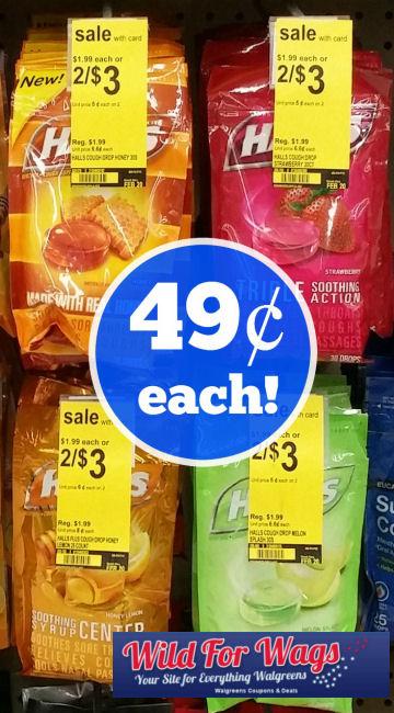 Halls Cough Drops 49¢ Each Thru Wednesday!
