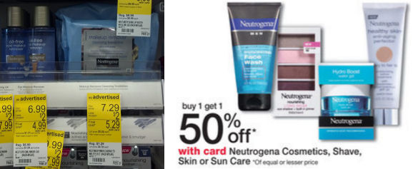 Neutrogena makeup removers