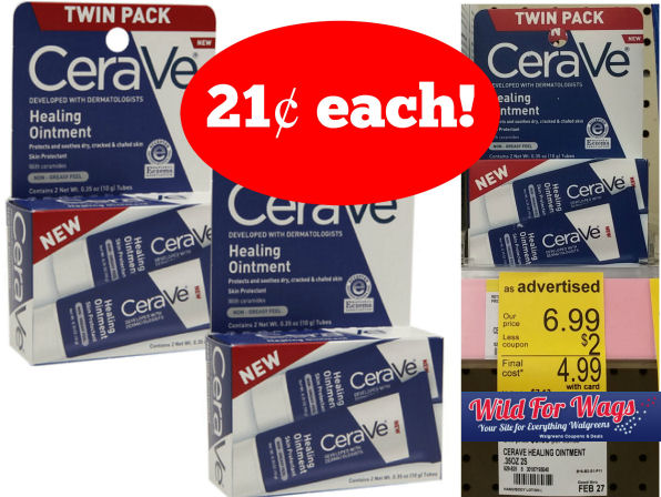 CeraVe Healing Ointment Twin Packs 21¢ Each!