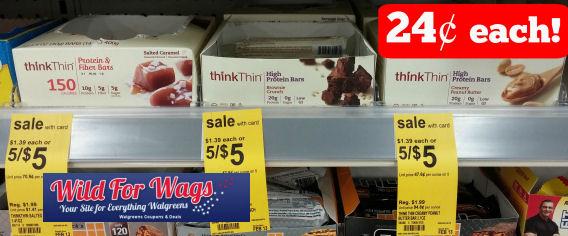 Think Thin, ZonePerfect & PowerBars - Starting at 24¢!