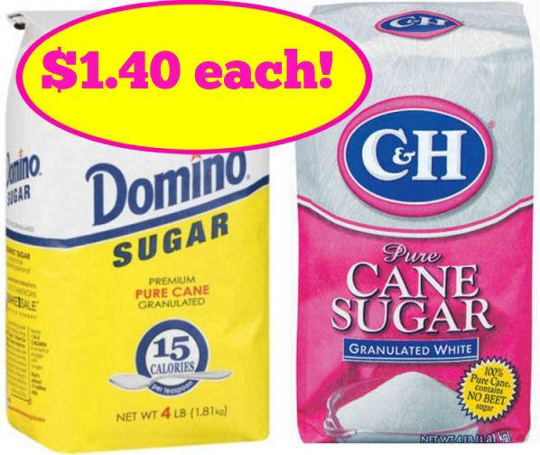 Domino or C&H Sugar Just $1.40!