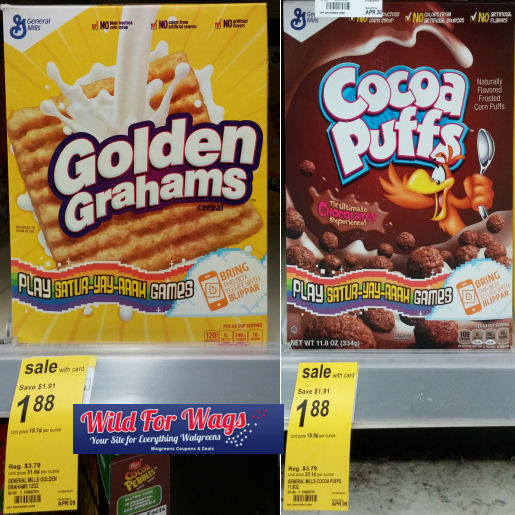 Golden Grahams & Cocoa Puffs Just $1.12