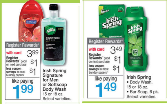 Irish Spring body washes deal
