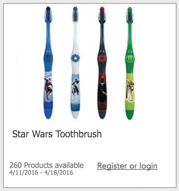 Free Star Wars Toothbrush