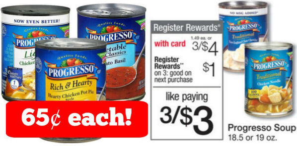 Progresso Soups Just 65¢ Each!