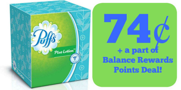 Puffs Tissues 74¢ + A Part of Points Deal!