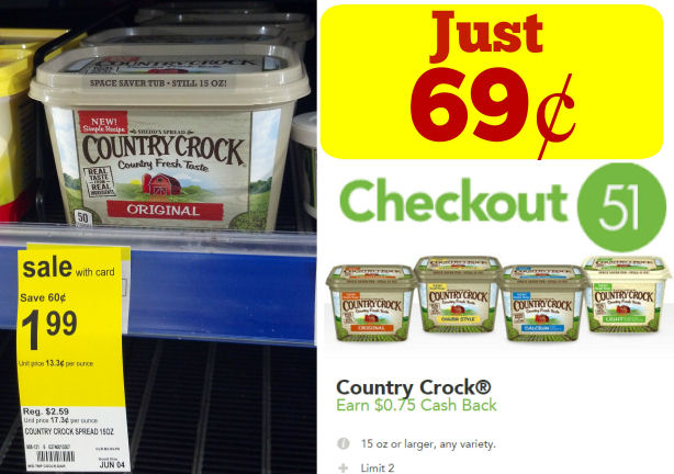 Country Crock Just 69¢ Thru Wednesday!