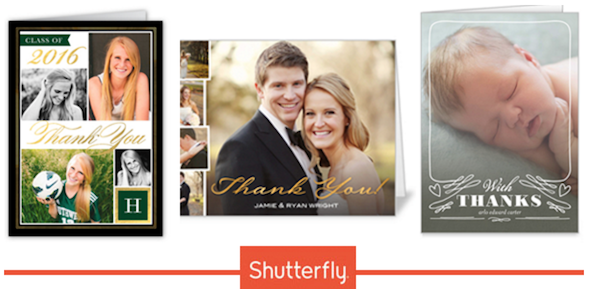 Shutterfly: 12 Free Thank You Cards