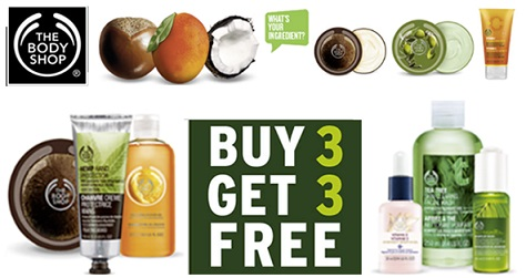 the body shop buy 3 get 3