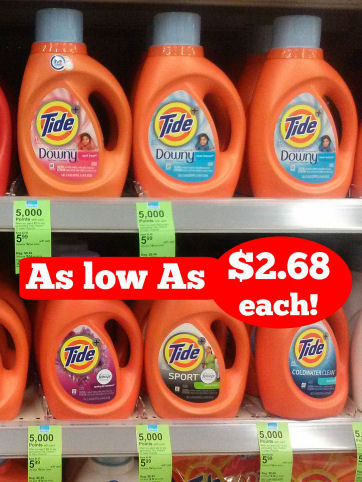 Tide As Low As $2.68 Per Bottle!