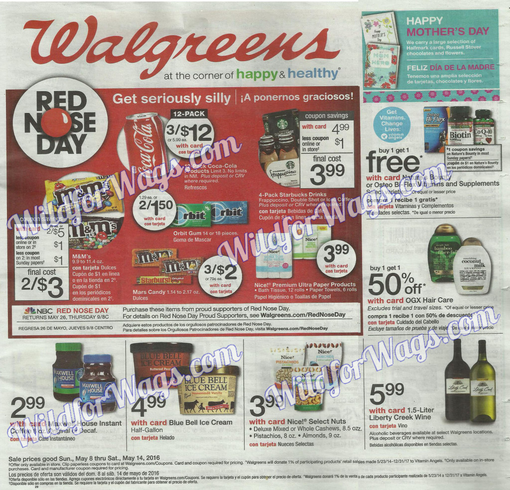 Walgreens Ad Scan 5-8-16 pg1g