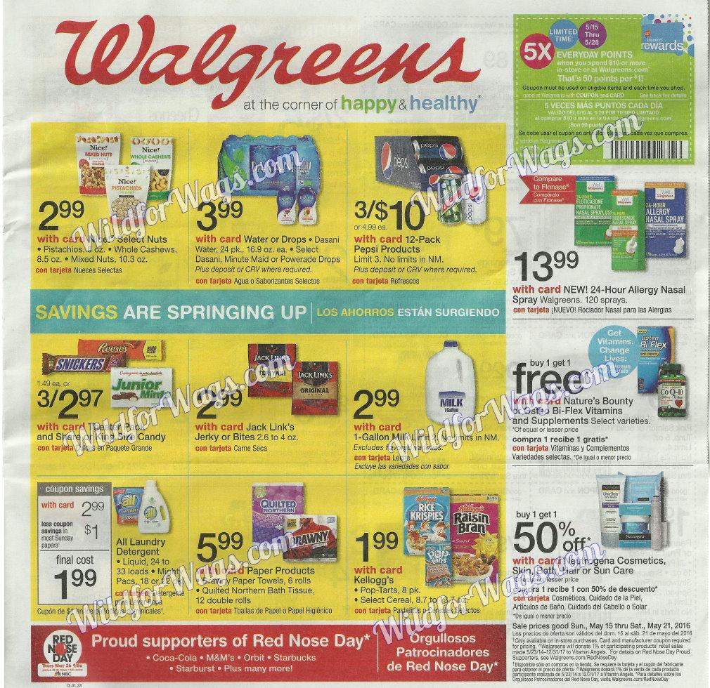 Walgreens Ad Scan Sneak Peek 5-15 pg1r