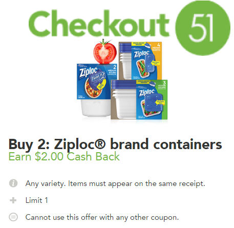 Ziploc Checkout offer