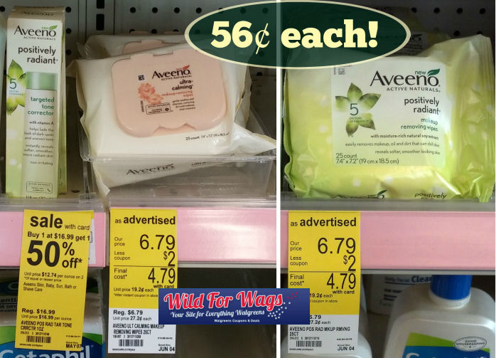 Aveeno Facial Wipes Just 56¢ Each!