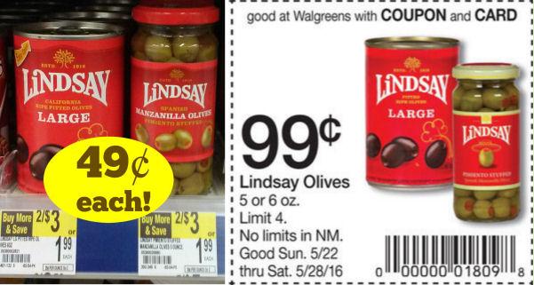 Lindsay Olives Just 49¢ Each!