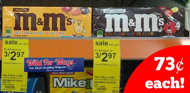 New Coupon M&M's Theater Boxes = 73¢ Each!